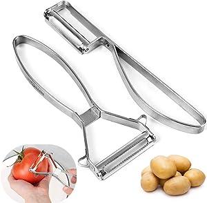2 Pieces Tomato Peeler & Vegetable Peeler with Premium Stainless Steel Serrated Blade Peeler for Soft Skin Fruit,Tomato,Potato,Cucumber, Apple,Mango