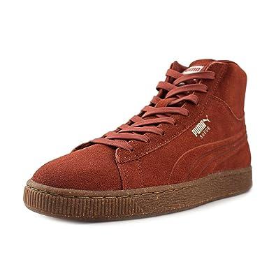 PUMA Men's Suede Mid Emboss Mixed Rubber Arabian Spice/Oatmeal Sneaker 7 D  (M