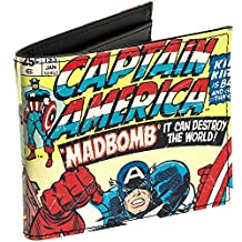 Marvel Comics Mens Wallet (Captain America, One Size)
