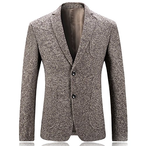 Solid Two Button Suit Jacket (MAGE MALE Men's Solid Two Button Suit Separate Jacket Single Breasted Slim Fit Tux Party Suit Blazer)