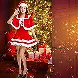 BiBOSS Christmas Santa Claus Costume Miss Santa Suit Christmas Onesie Outfits