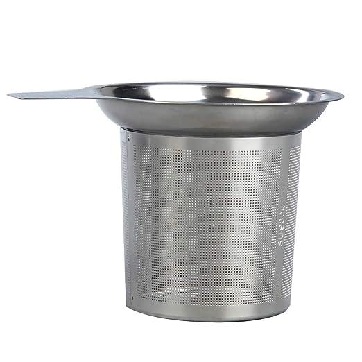 Infusor de té de malla reutilizable colador de té Tetera ...
