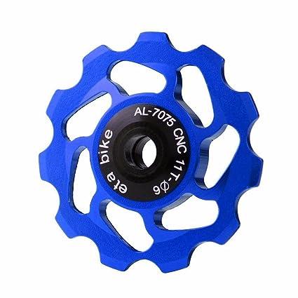 11T Aluminio Rueda Jockey, Desviador de Bicicleta Trasero Desviador Jockey Aleación de Aluminio CNC Polea