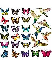 Rekuopl 26 stuks vogel vlinder raam plakken anti-botsing venster statische stickers decor niet-zelfklevende stickers