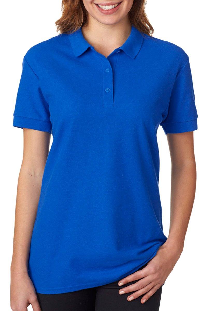Gildan - Ladies Premium Cotton Double Pique Polo Shirt - 82800L-Royal-L