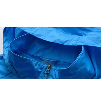 96ff66d819ed55 ULBN Wasserdichte Herrenjacke Dünne Atmungsaktive Schnell Trocknende Jacke  mit Kapuze: Amazon.de: Bekleidung