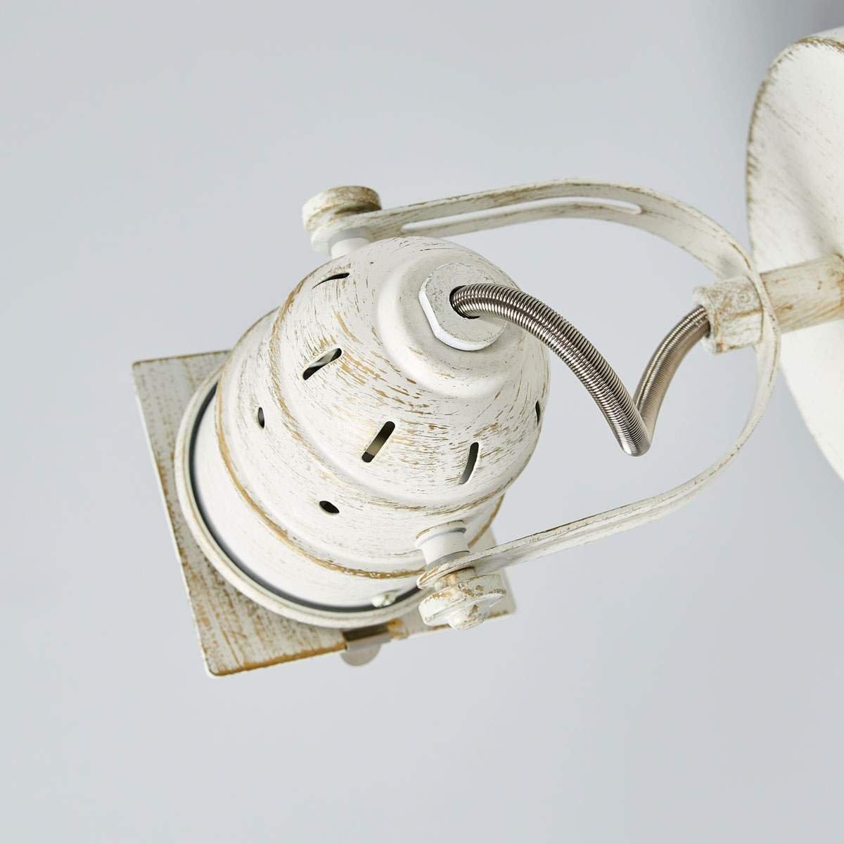 aplique en Blanco hecho de Metal e.o de LAMPENWELT 1 llama, GU10, A+ Vintage LED L/ámpara de pared Janek para Sal/ón /& Comedor aplique LED