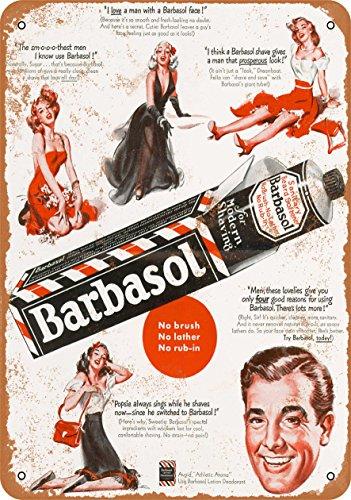 (Wall-Color 7 x 10 Metal Sign - 1949 Barbasol Shaving Cream - Vintage Look)