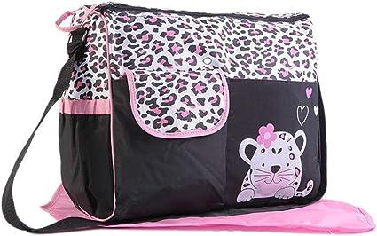 Waterproof Baby Diaper Nappy Mummy Changing Handbag Shoulder Bag with Mat Travel