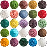 Super Mega Fusible Glass Medium Frit Sampler Pack Number 1-25 Colors, 90 COE - Made From Bullseye Glass by New Hampshire Craftworks
