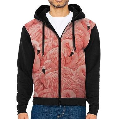 Flamingo Mens Full-Zip Hooded Fleece Sweatshirt