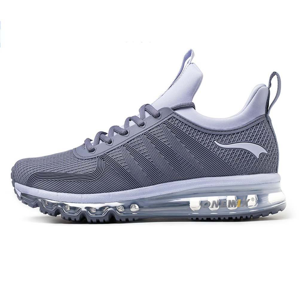 ONEMIX Air Cushion Sports Running Casual Walking Sneakers Shoes for Men and Women B079KZBHWD 4 B(M) US 8.85 inch =EUR36|Darksilver