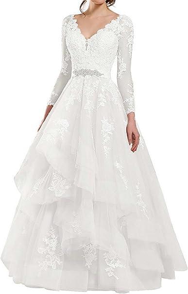 Brautkleid mit tüll und spitze