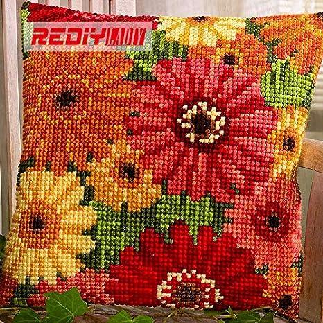 Ochoos DIY Needlework Manualidades Verano Flores Funda de ...