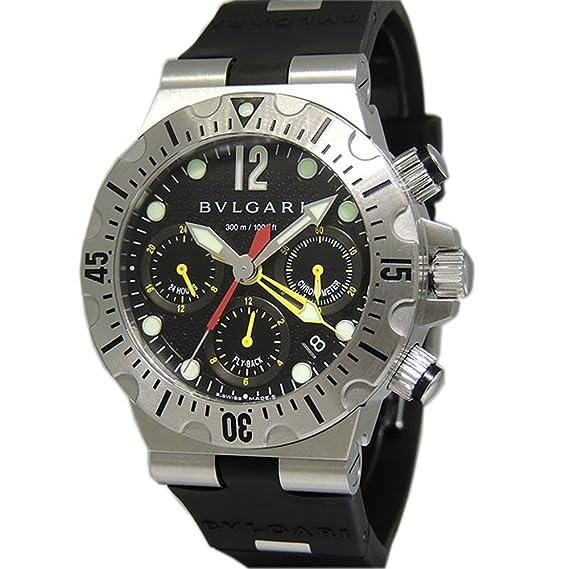 Bvlgari diagono profesional swiss-automatic Mens Reloj SC 40 S (Certificado) de segunda mano: Bvlgari: Amazon.es: Relojes