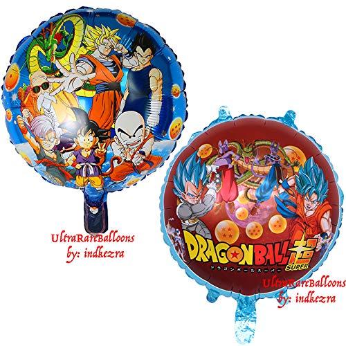 Dragon Ball Z Balloons 2 Pack Birthday Celebration DragonballZ Balloon Set Double