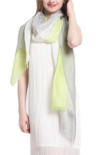 Prettystern - efecto teñido bufanda de la cachemira y seda y luz mixta Verano de lino en colores que funcionan - la elección del color
