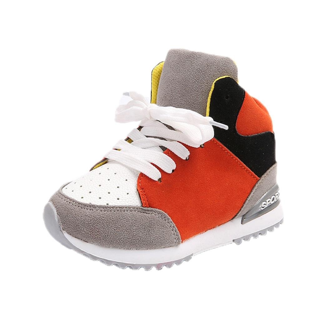 mmlc Baby Girl Boy Deporte Running suave suela high-top zapatillas ...