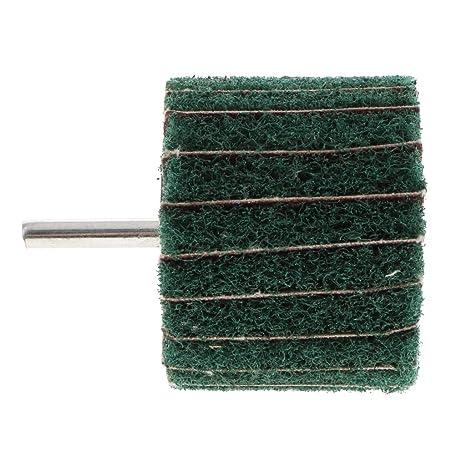 f/ür Metall//Holz B Blesiya Hochwertige Polierscheibe Schleifscheibe Vlies Schleifrad mit Spanndorn 80 /× 25 /× 6 Rot 6 mm Rundschaft