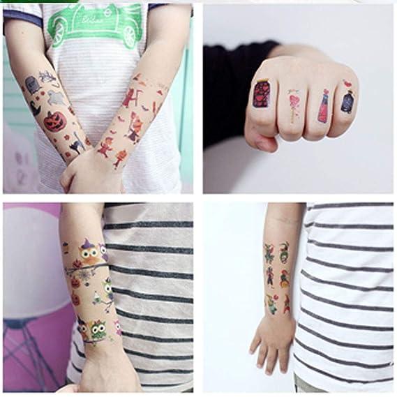 ANBET 20 Lámina Infantil Pegatinas de Tatuaje de Dibujos Animados ...
