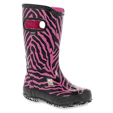 Bogs Infants/Toddlers Zebra Rainboot,Pink Multi,US 10 M