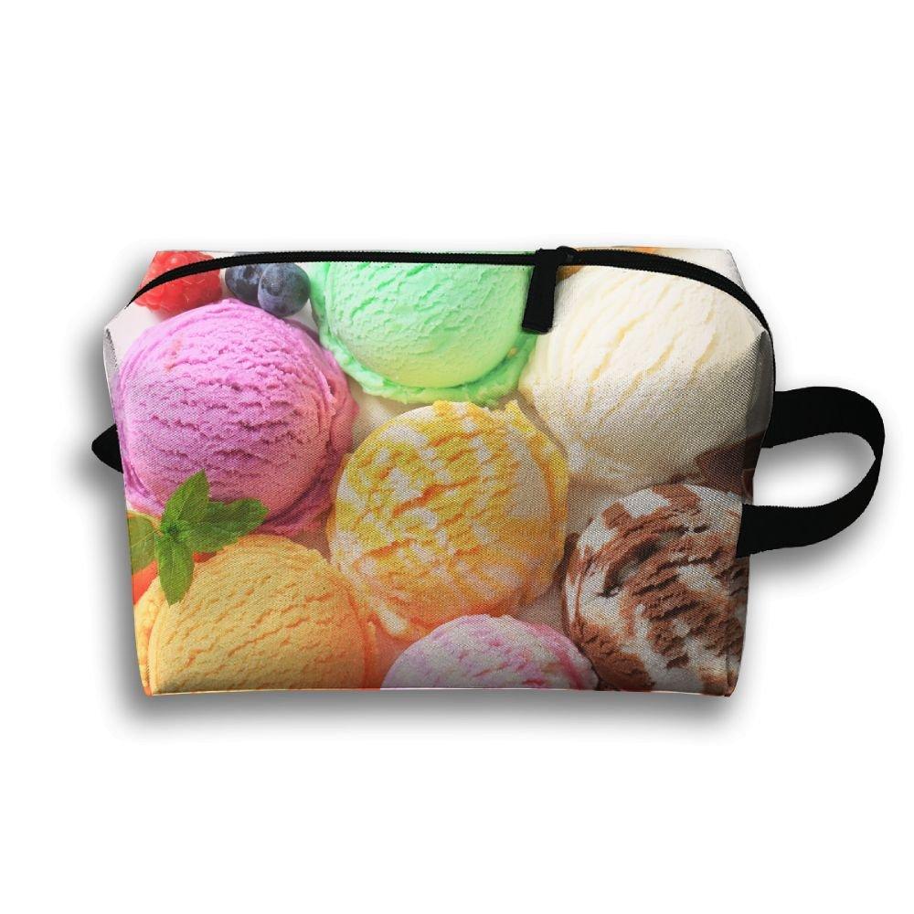 Quirky IceクリームSmall Travel Toiletry Bagスーパーライトトイレタリーオーガナイザー一泊旅行用バッグ B07BDHGJ7P