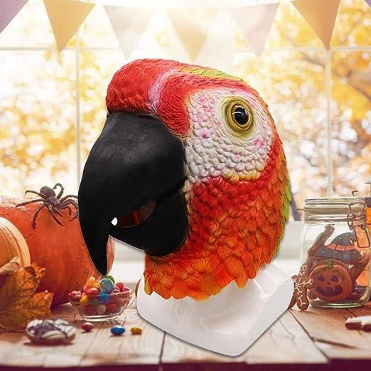 Cathy02Marshall Máscara De Loro Rojo - Fiesta De Disfraces De ...
