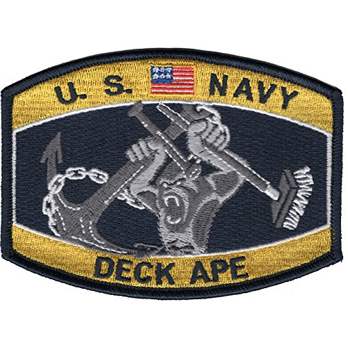 Navy Deck Ape Boatswains Mate BM Patch 4 1/2