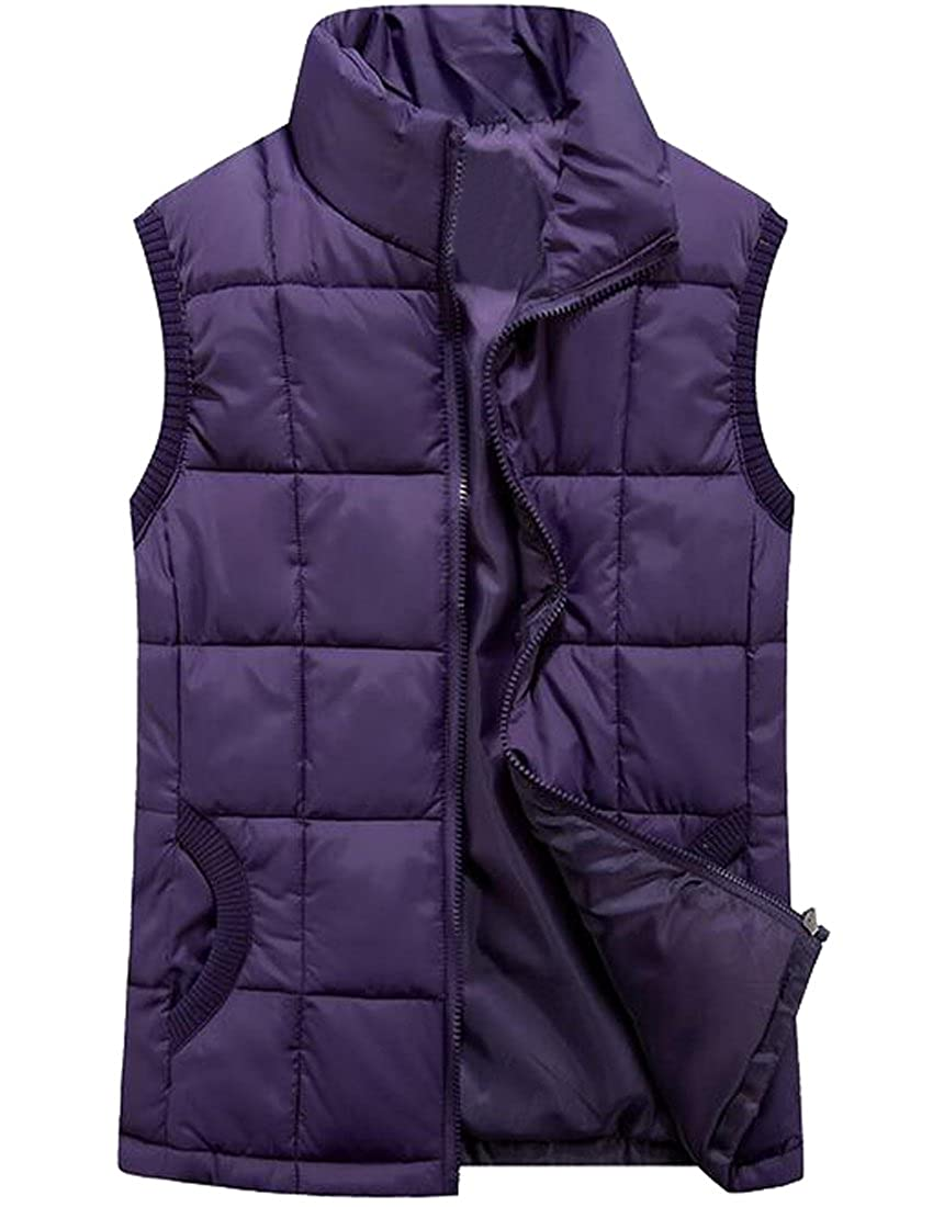LD Womens Winter Stand Collar Down Puffer Quilted Vest Waistcoat Jacket Outerwear