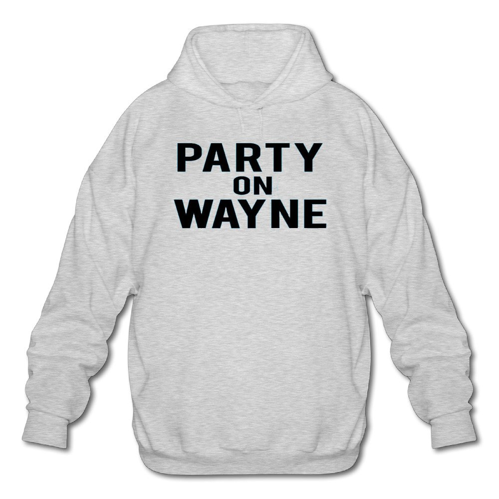 Mens Long Sleeve Cotton Hoodie Party On Wayne.png Sweatshirt