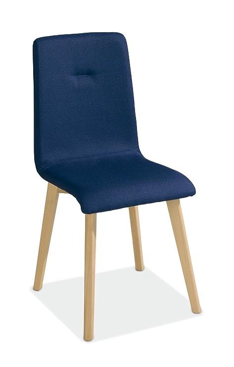 Home4You Silla de Comedor sillas Azules Amico 2