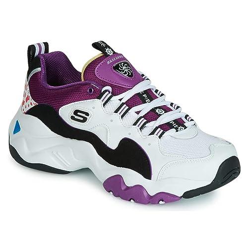 Skechers D Lites Damen Low Sneaker Schwarz Schuhe