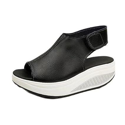 7365fefd6749 Rakkiss Fashion Women Shake Shoes Summer Sandals Thick Bottom HIGT Heel  Shoes (CN35