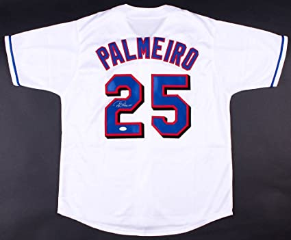 outlet store f47f7 f0c35 Rafael Palmeiro #25 Signed Texas Rangers Jersey (JSA COA) at ...