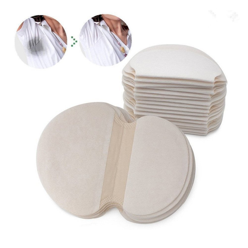 Underarm Sweat Pads, Absorb Sweat Armpits Disposable Perspiration Pads Deodorant 30/50/ 100Pairs (30Pairs) Brrnoo