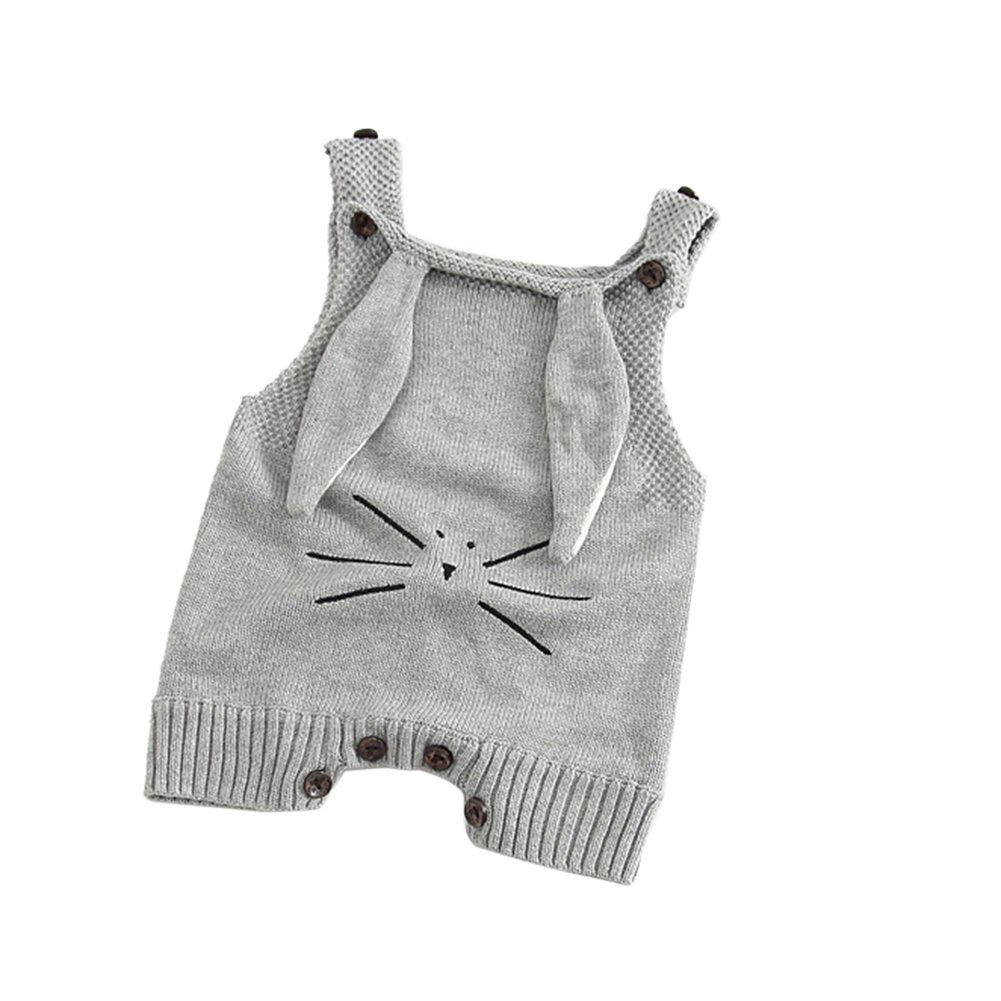 TININNA Carino Bambino Neonato Maglia Lavorata a maglia Crochet Bodysuit Foto Prop Fotografia Costume(Rosa)#60