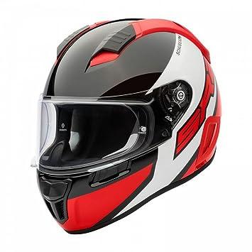 Schuberth SR2 deportes cara completa casco de moto – comodín rojo L
