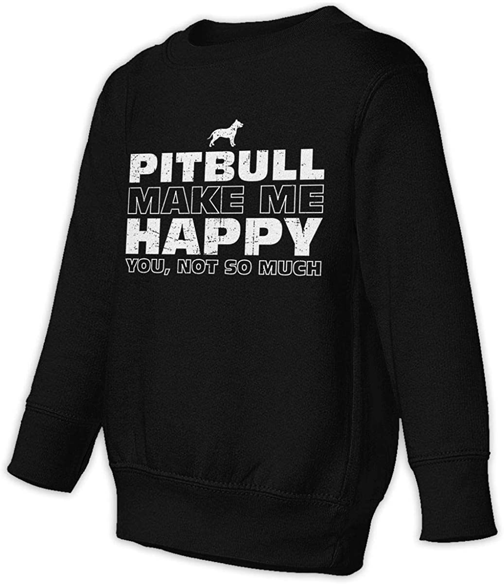 wudici Pitbull Boys Girls Pullover Sweaters Crewneck Sweatshirts Clothes for 2-6 Years Old Children