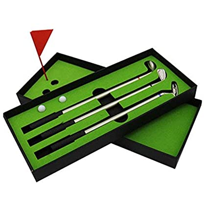 JUNTAO Set de Caja de Regalo Mini Golf Club Putter Ballpoint ...