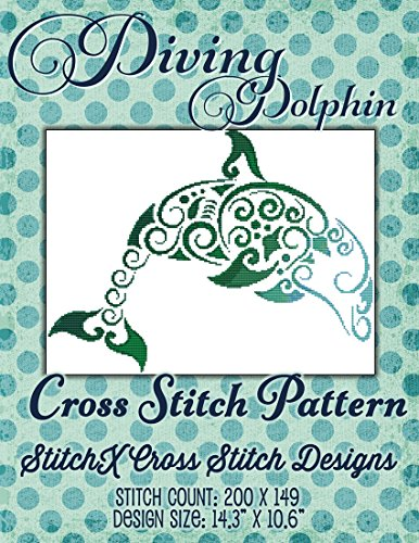 - Diving Dolphin Cross Stitch Pattern - Sea Life Pattern - Quick to stitch!