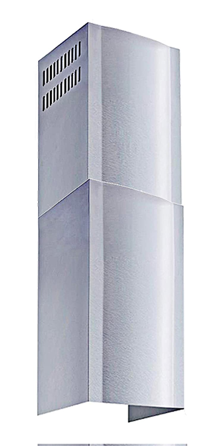Winflo Stainless Steel Chimney Extension (up to 11ft. Ceiling) for Winflo Convertible Wall Mount Range Hood (upper and lower piece set) Winslyn Industries
