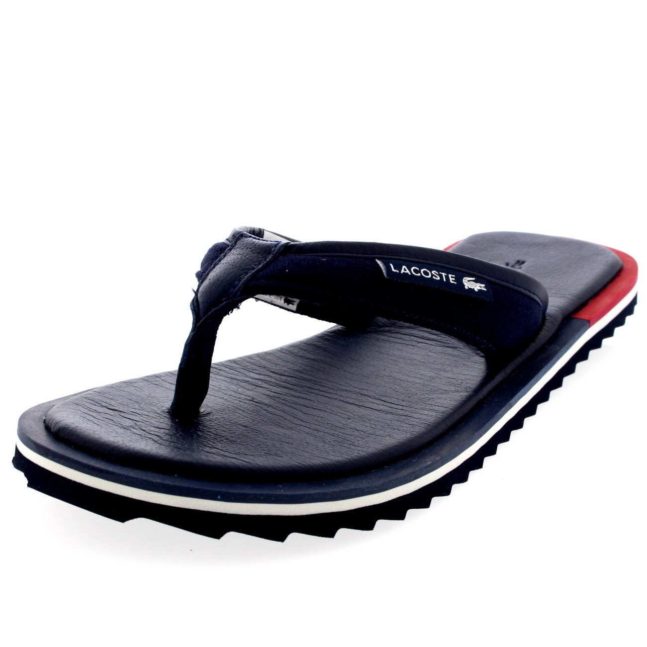 c30b6e91a4c8 Lacoste Mens Athali 2 Holiday Flip Flops Leather Slip On Summer Sandals -  Off White - 12  Amazon.co.uk  Shoes   Bags