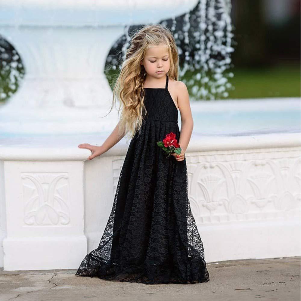 Amazon.com: TOOPOOT - Vestido de encaje para niña, formal ...