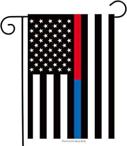"Briarwood Lane Thin Blue & Red Line Garden Flag Police Firefighter Patriotic 12.5"" x 18"""