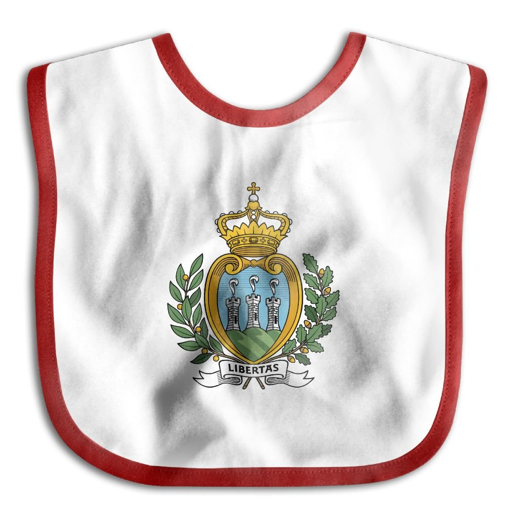 Coat of Arms of San Marino Personalized Scarf Bib Feeding /& Teething Fancy Baby Bibs and Burp Cloth Polyester Cotton