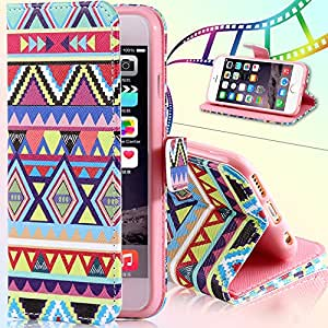 Lovely Flip Leather Phone Bags &Cases For iphone 6 Plus 5.5inch Matte Printed Owl Wallet Stand Insert Card Holder Cover i6 5.5'' --- Color:nationals