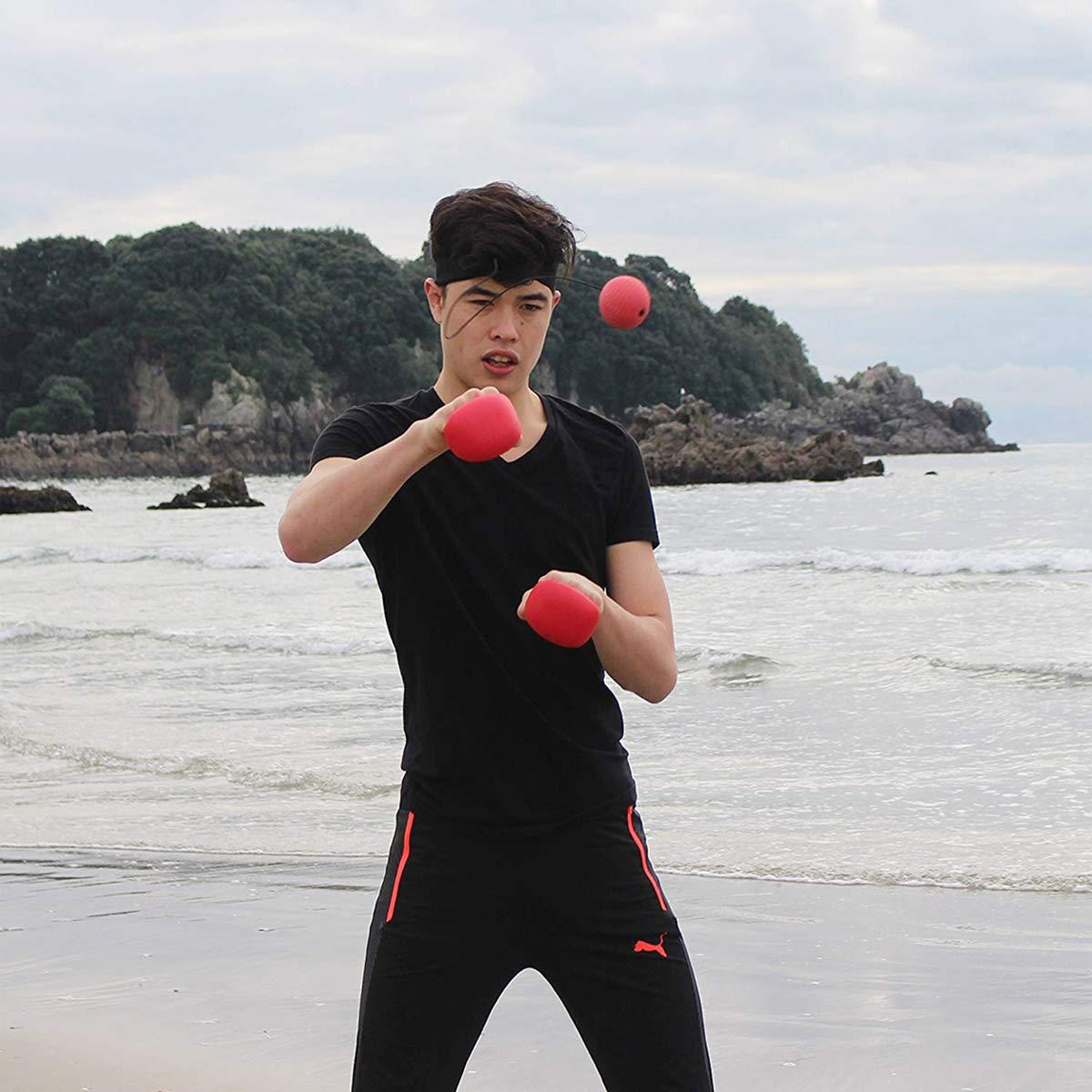 Black Sweethos Unisexs Boxing Reflex Fight Ball 24174 cm