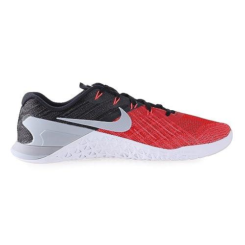 Amazon.com | NIKE Mens Metcon 3 University Red/Black/White/Wolf Grey (7.5) | Fitness & Cross-Training