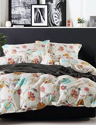 ZQファッションパーソナリティスタイル快適なファッション寝具シリーズ4pc羽毛布団カバーセット、クイーンサイズ クイーン 8096525911473 B01GLBN6F2  クイーン