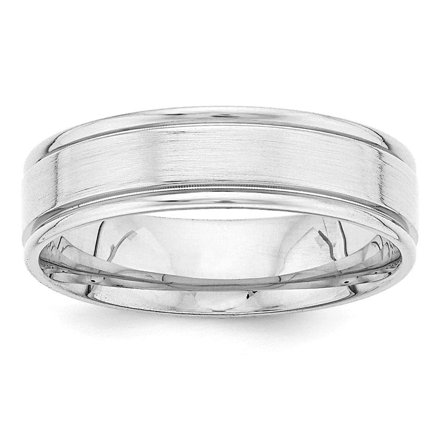 Solid 14k White Gold Heavy Comfort Fit Fancy Band Finger Size 8